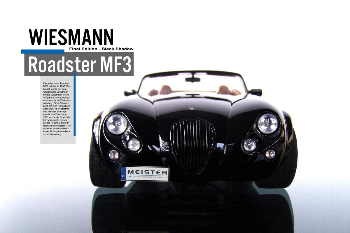 Modellauto Wiesmann Roadster MF3 Finla Edition